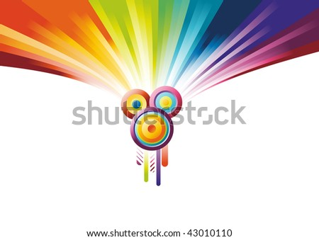 Rainbow party banner. Vector illustration - stock vector