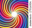 Rainbow Spiral Burst Background (Vector) - stock vector