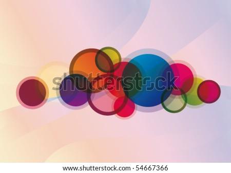 rainbow splash - stock vector
