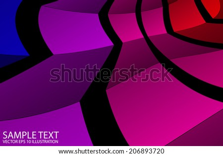 Rainbow squared vector background illustration - Abstract vector rainbow colored  template - stock vector