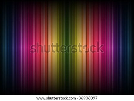 Rainbow Stripes Background (Vector) - stock vector
