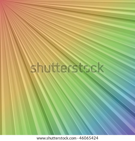 Rainbow stripes with gradient - stock vector