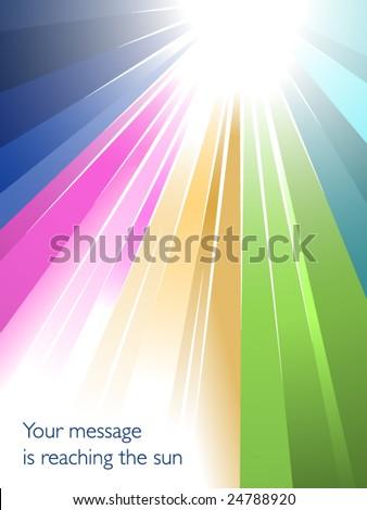 Rainbow sunburst - stock vector