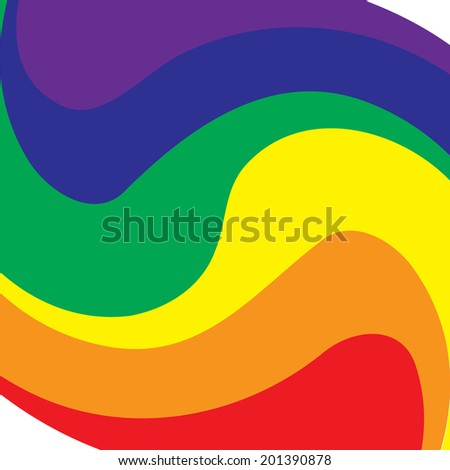 Rainbow symbol of same-sex relationships and free love - stock vector