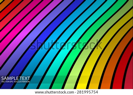 Rainbow vector abstract striped background illustration - Abstract rainbow colorful  stripes background template - stock vector