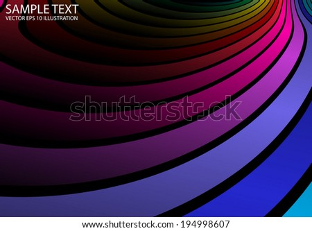 Rainbow vector background illustration stripes