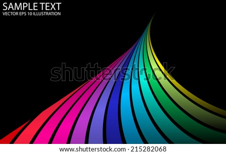 Rainbow vector colorful peak background illustration - Color vector background abstract template - stock vector