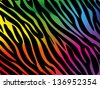 Rainbow zebra background - stock photo