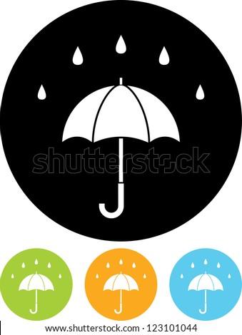 Rainy day. Umbrella - Vector icon isolated - stock vector