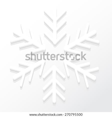 Raised Snowflake - stock vector