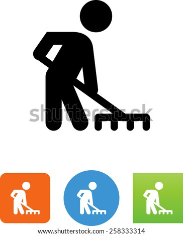 Raking symbol for download. Vector icons for video, mobile apps, Web sites and print projects.  - stock vector