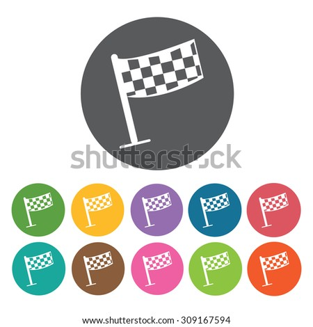 Rally flag icons set. Vector Illustration eps10