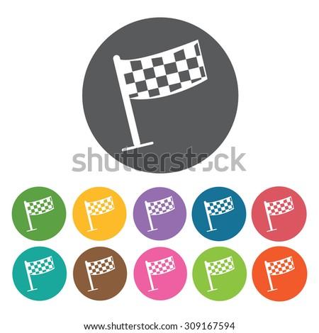 Rally flag icons set. Vector Illustration eps10 - stock vector
