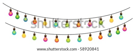 Ramadan Colored Lamps Street Decoration 3-vector - stock vector