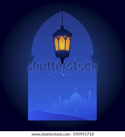 Ramadan greeting card template - editable vector - stock vector