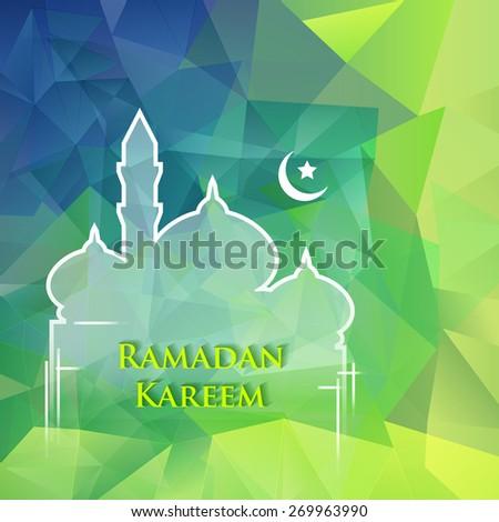 Ramadan greetings background. Ramadan Kareem means Ramadan the Generous Month - stock vector