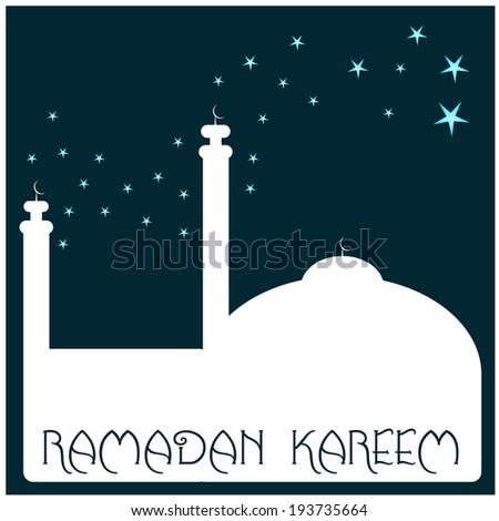 ramadan kareeem background - stock vector