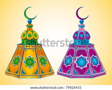 Ramadan Kareem Arabic Lantern - stock vector