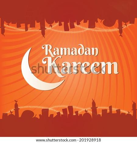 ramadan kareem backgrounds vector - stock vector
