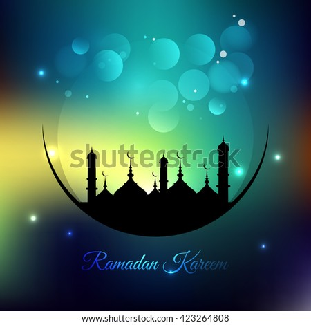 ramadan kareem colorful background;  - stock vector