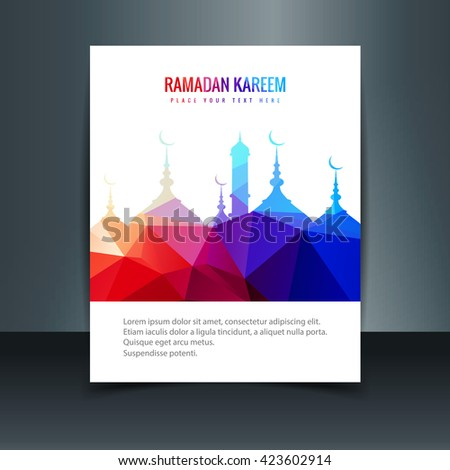 ramadan kareem flyer - stock vector