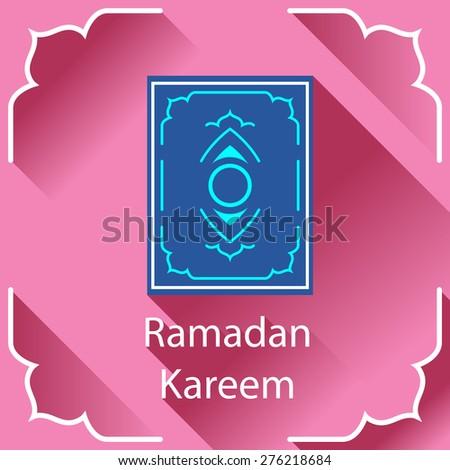 Ramadan Kareem greeting card. Islamic design element. - stock vector
