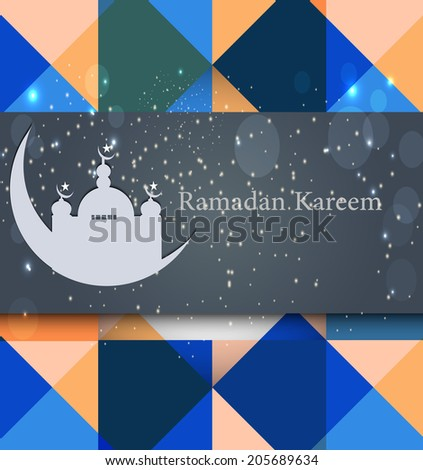 Ramadan Kareem vector background - stock vector