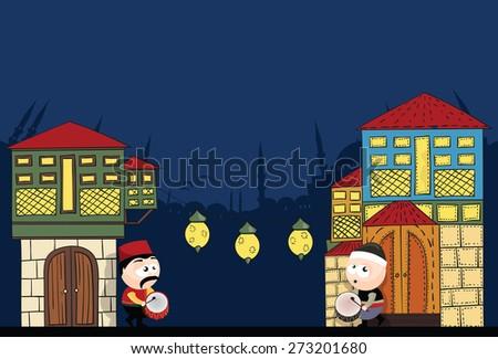 ramadan time - stock vector