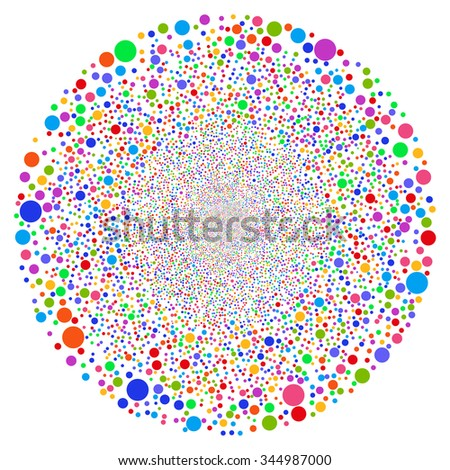 Random Bubble Sphere vector illustration. Style is bright multicolored flat balls, white background.