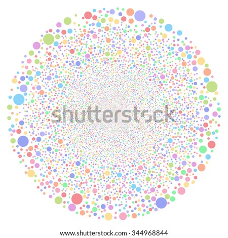 Random Bubble Sphere vector illustration. Style is bright multicolored flat circles, white background.