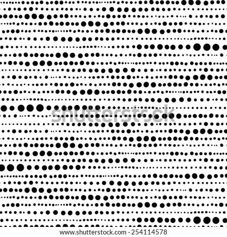 Random hand drawn dot pattern background. Background image of random hand drawn dot pattern.  - stock vector