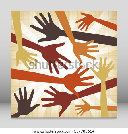 Random hand pattern design. - stock vector