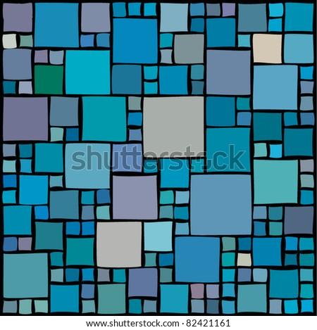 Random squares - stock vector