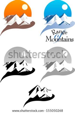 Range of Mountains - stock vector