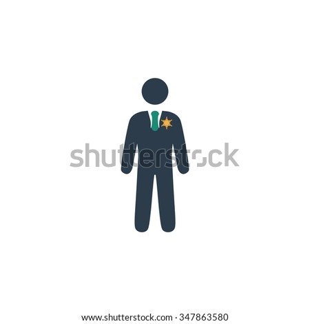 ranger Color vector icon on white background  - stock vector