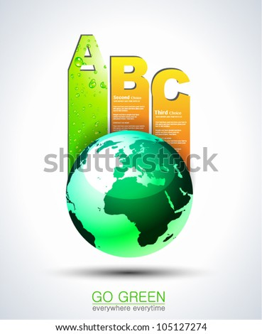 Ranking Papers Tag for Eco Green Corporatesl Classifications! Idea for business presentation - stock vector