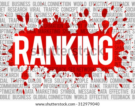 Ranking word cloud, vector business concept background - stock vector