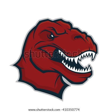 Raptor head mascot - stock vector
