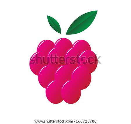 raspberry icon isolated on the white background