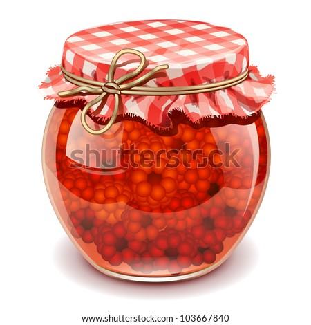 raspberry jam - stock vector