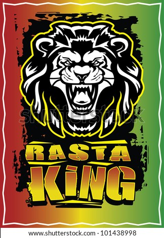 Rasta King - stock vector