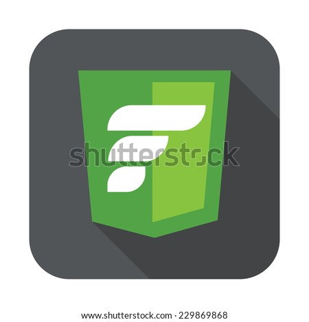 raster round icon of php zend framework - isolated flat design illustration - stock vector