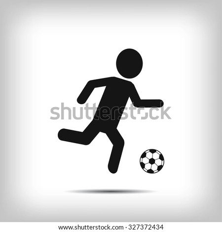 Raster version. Soccer, football players silhouettes - stock vector