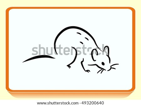Rat icon. Mouse, harmful rodent icon.
