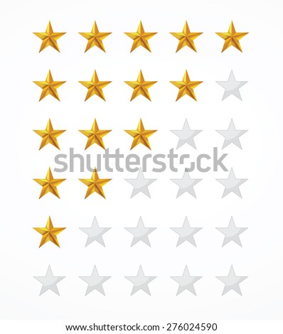 rating star collection isolated in white background.