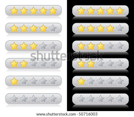 Rating stars for web - stock vector