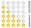 Rating stars for web site - stock photo