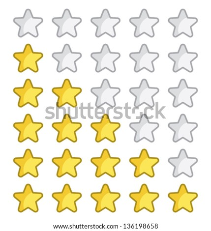 Rating stars for web site - stock vector