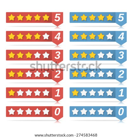 Rating stars for web, vector eps10 illustration - stock vector