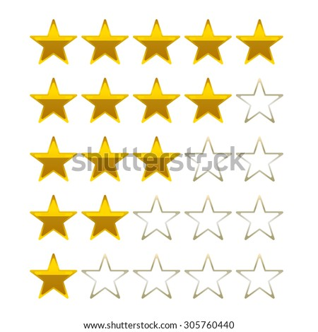 rating stars golden vector symbols icons